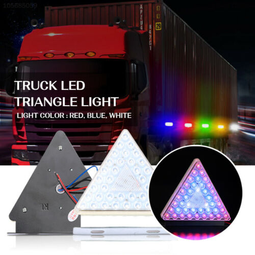 65B6 2PCS LED Light LED Taillight Strobe Rear Lamp Foglight Warning Light Truck