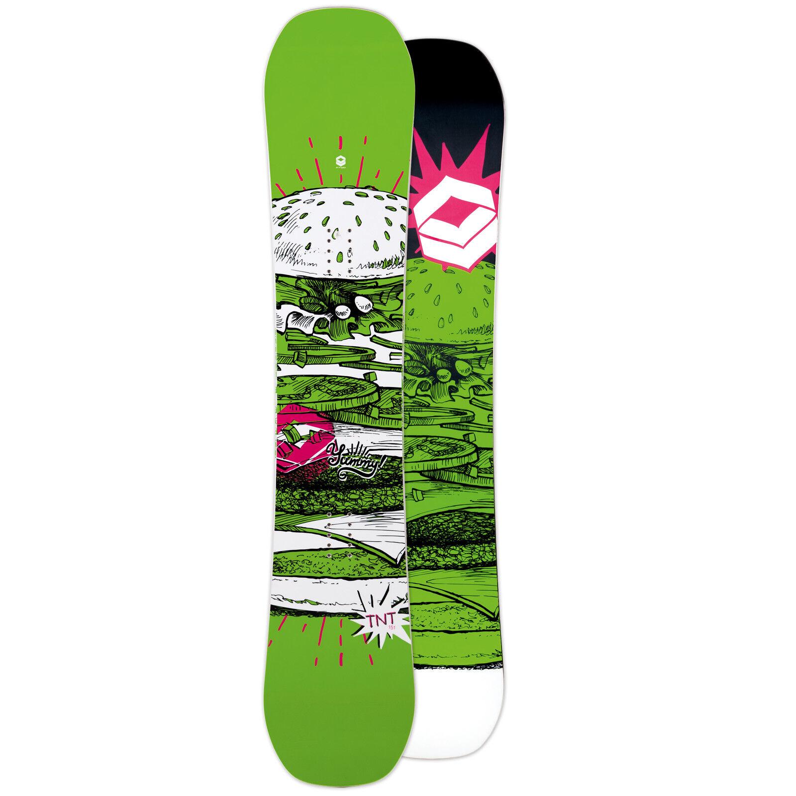 Ftwo Uomo Freestyle Snowboard verde 2019 151 cm  Rocker Ala
