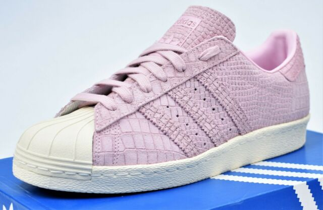 ADIDAS SUPERSTAR 80s W New Women's Pink White Shoes CQ2516 Lifestyle Sneakers