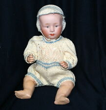 """9"""" ANTIQUE Gebruder Heubach 6894 GERMAN BISQUE POUTY CHARACTER BABY DOLL C.1910"""