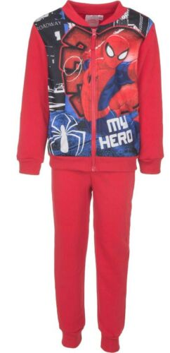 CHARACTER CLOTHES SIZE 3-8 YEARS BOYS SPIDER-MAN TRACKSUIT JOGGING FLEECE SET