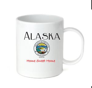 Coffee-Cup-Mug-Travel-11-15-oz-City-State-Country-Alaska-State-Seal-Home-Sweet