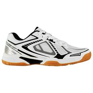 Slazenger-Homme-Indoor-Baskets-Squash-Chaussures-a-Lacets-Cheville-rembourree-Col-Maille