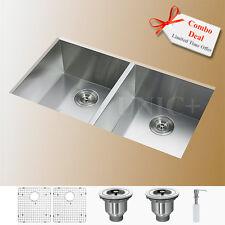 """Combo Deal !!! 33"""" Undermount Stainless Steel Zero Radius Kitchen Sink KUS3318A"""