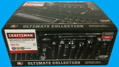 Craftsman 220pc Mechanics ULTIMATE COLLECTION Auto Shop SAE MM Tools Service Set