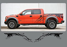 2010-2014 FORD RAPTOR SIDE GRAPHICS VINYL DECALS SPLASH BED SVT STICKERS MUD