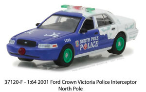 Greenlight-1-64-Holiday-Ornaments-2001-Ford-Crown-Victoria-Police-Interceptor