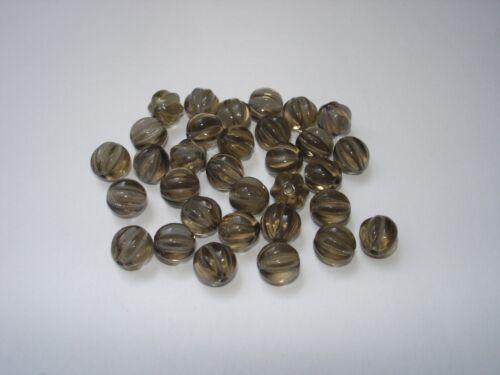 30 Stück #G195 8mm Glasperlen Glasschliffperlen Black Diamont