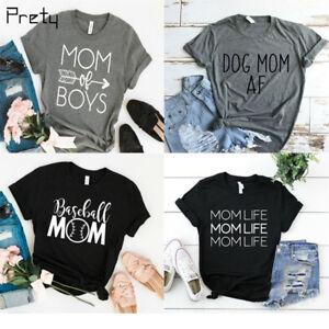 4ddbda8efff9d Mom Graphic Tee Funny Mom T-Shirt Fall Shirts Workout Shirt Women ...