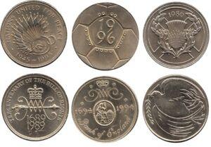 Due-MONETE-sterlina-2-1986-1989-1994-1995-e-1996-Scelta-di-anno