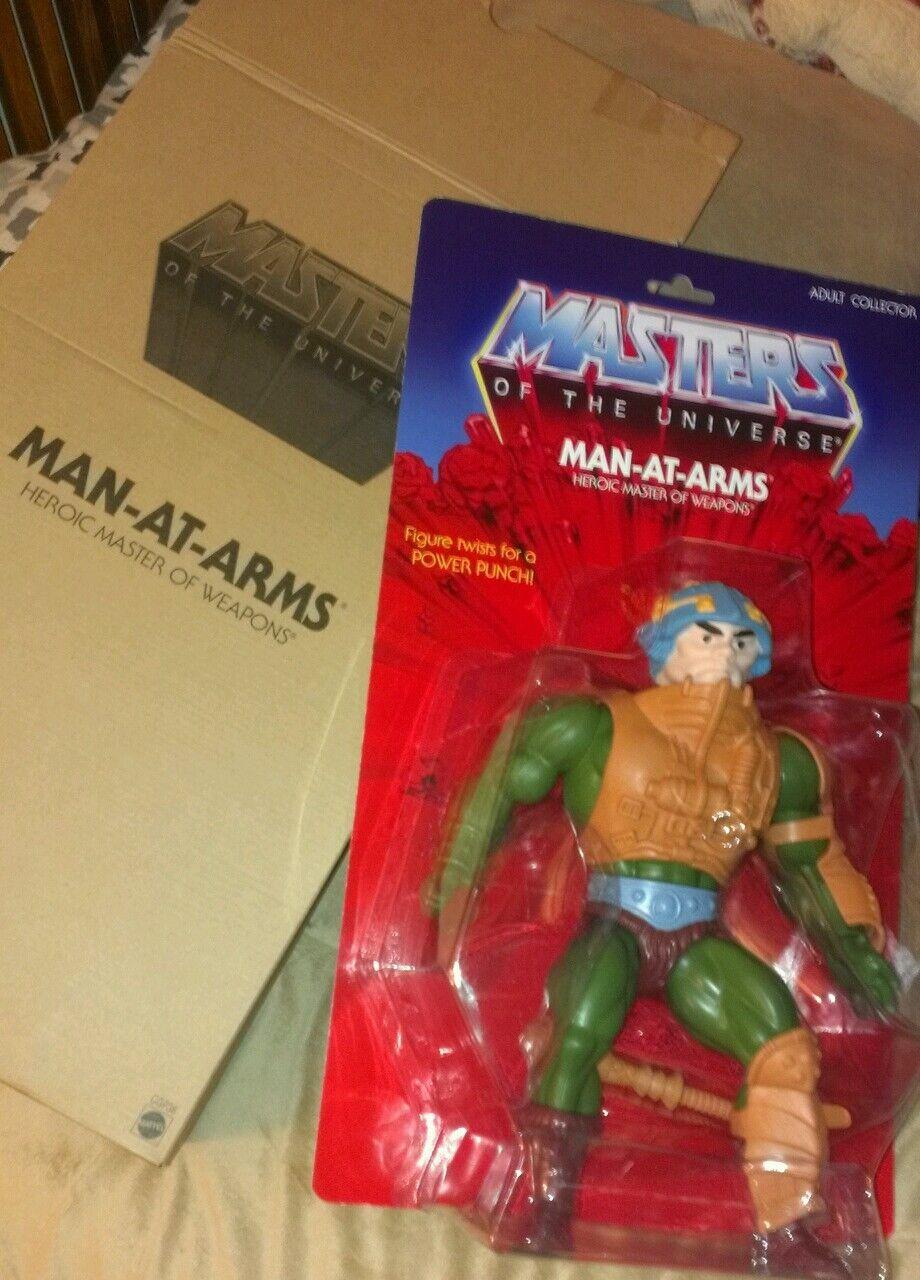 Mattel - mann meister des universums man-at-arms 12  abbildung neue original - box