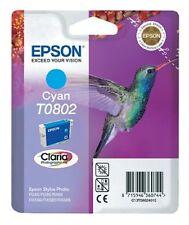 GENUINE EPSON ORIGINAL T0802 Cyan INK CARTRIDGE RX560 RX585 RX685 PX650 PX700W