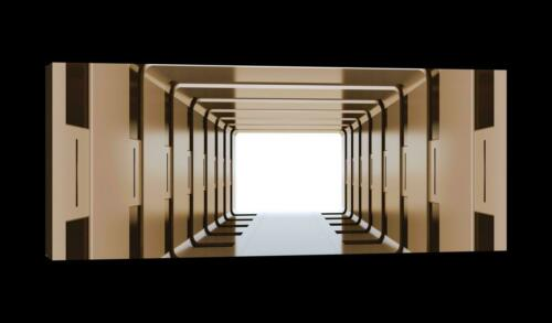 CANVAS Leinwand bilder XXL 3D Tunnel Bild Wandbild 15F0048060