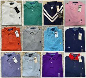 Custom-Slim-Fit-Men-Polo-Ralph-Lauren-Mesh-Polo-Shirt-Size-S-M-L-XL-XXL-NWT