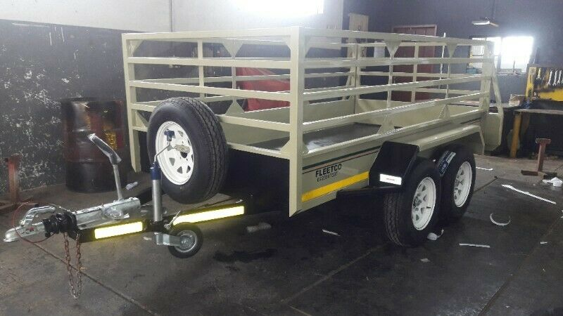 3M DOUBLE AXLE UTILITY TRAILER WITH BRAKES FOR SALE, BRAND NEW