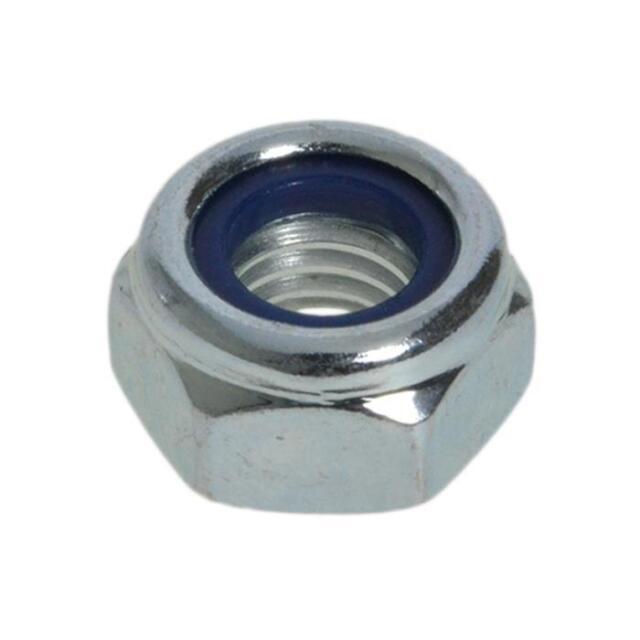 Zinc Plated M12 (12mm) Metric Coarse Hex Nyloc Insert Nut Lock