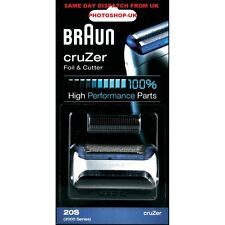 100% GENUINE BRAUN FOIL AND CUTTER 20S FOR 2000 SERIES CRUZER SHAVERS