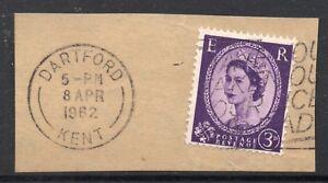 GB  QE2 Postmark  DARTFORD  KENT 1962 Thin Arcs cancel - WIGAN, Greater Manchester, United Kingdom - GB  QE2 Postmark  DARTFORD  KENT 1962 Thin Arcs cancel - WIGAN, Greater Manchester, United Kingdom