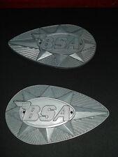BSA A65 B25 B44 VINTAGE MOTORCYCLE FUEL GAS TANK BADGES