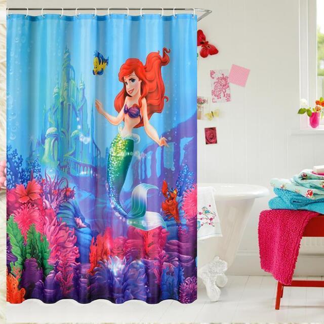 Disney Little Mermaid Ariel & Sebastian Bathroom Shower ...