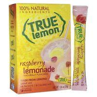 4 Boxes True Lemon 100% Natural Raspberry Lemonade Drink Mix 40 Packets