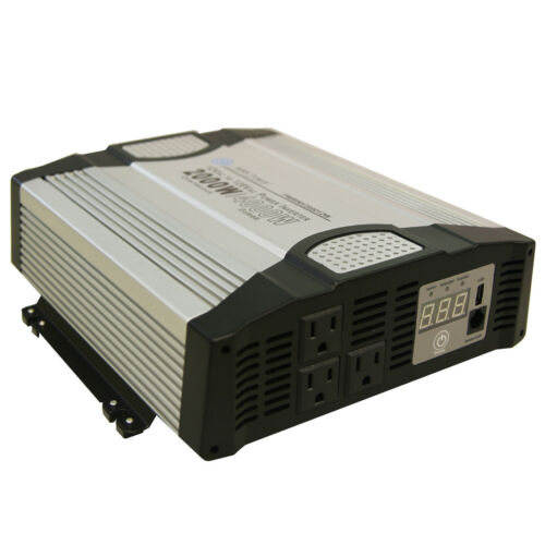 AIMS Power 2000 Watt Power Inverter 12 Volt Modified Sine Wave PWRINV200012W