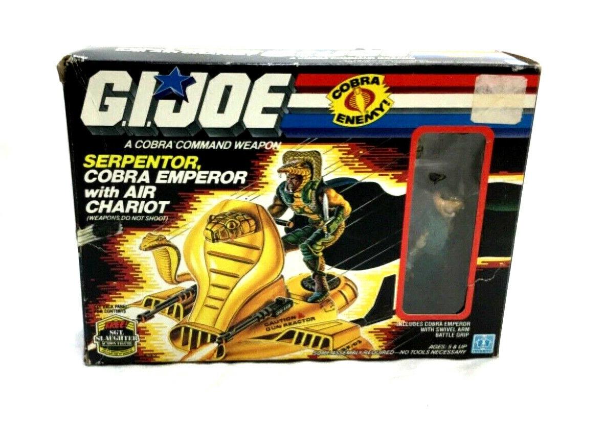 1986 GI JOE un vero eroe americano COBRA serpentor IN SCATOLA ISTRUZIONI completare AIR autoRO cifra