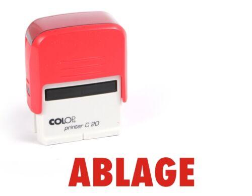 ABLAGE COLOP Printer C20 Stempel Selbstfärber Büro Text Stempel rot #1161