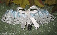 Redneck Wedding Buck Deer Charm Hunter Bridal Garter Toss Blue