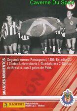 076 SANTOS Vs Chivas 4-2 1959 MEXICO CARD 100 YEARS OF CHIVAS GUADALAJARA PANINI