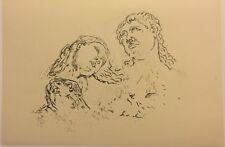 Original Hand Signed Engraving By Giorgio De Chirico Le tre sorelle 1972