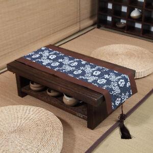 Café Furniture Café Tables Japanese Style Antique Solid Wood Tea Table Tatami Small Coffee Table Solid Paulownia Wood Furniture Living Room Low Tea Table