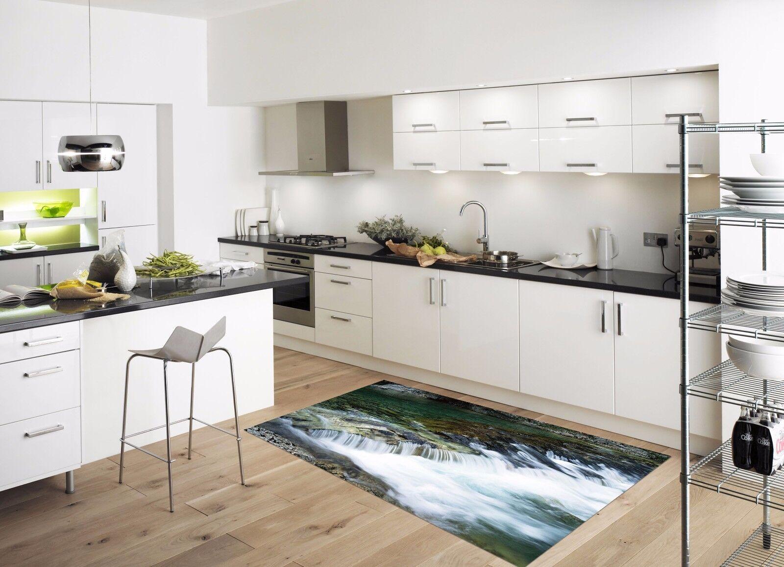 3D Leaf Water 82 Kitchen Mat Floor Murals Wall Print Wall AJ WALLPAPER UK Kyra