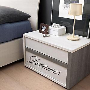 wall stickers frase frasi 2 adesivi per comodini camera da letto ...
