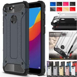 buy popular d7828 4eaf0 Details about Hybrid Armor Case For Huawei Y6 Y7 Y9 Honor Shockproof Rugged  Bumper Hard Cover