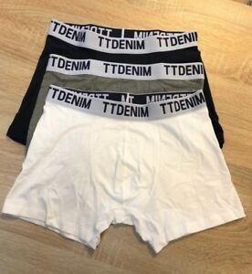 3 er Pack Tom Tailor Basic Boxershorts TT Denim Trunks Dreifarbig   eBay 5b7434006c