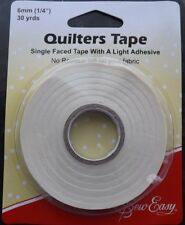 30 Yards Sew Easy Single faced Quilters Tape  27.4m x 6mm