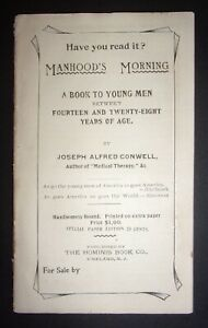RARE-Manhood-039-s-Morning-Informational-Advertisement-Pamphlet-Joseph-Conwell
