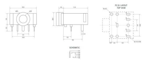 4x 3.5mm Presa Jack Stereo Audio Auricolare Cuffia Microfono Phono Montaggio su Scheda