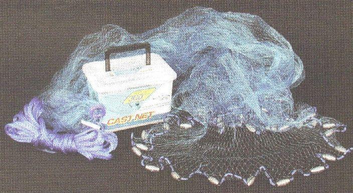 Ahi CN307 7 Ft blu 12 Premium blu Ube Monofilament Cast Net 16111