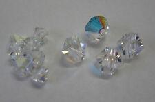 11 Clear Swarovski Crystal AB Beads 4mm & 6mm Bead For Beading, Jewellery TAR215