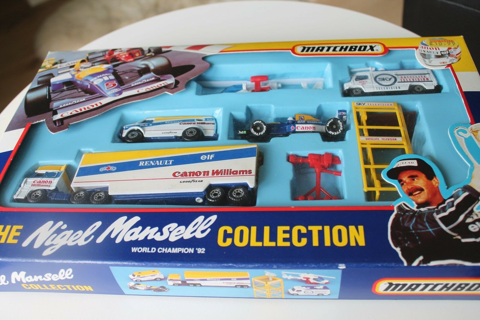 MATCHBOX  THE NIGEL MANSELL COLLECTION  FORMULA 1  1992  SET
