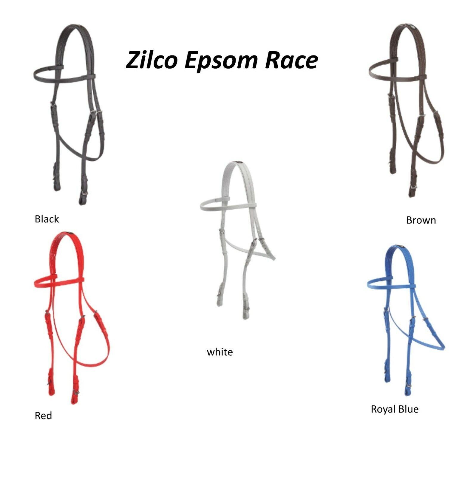 Briglia Epsom in Nero, Marronee, Rosso, Bianco, Blu Royal