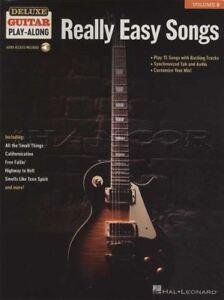 2019 Nouveau Style Vraiment Facile Chansons Deluxe Guitar Play-along Tab Music Book/audio Rock Ac/dc Clash-afficher Le Titre D'origine