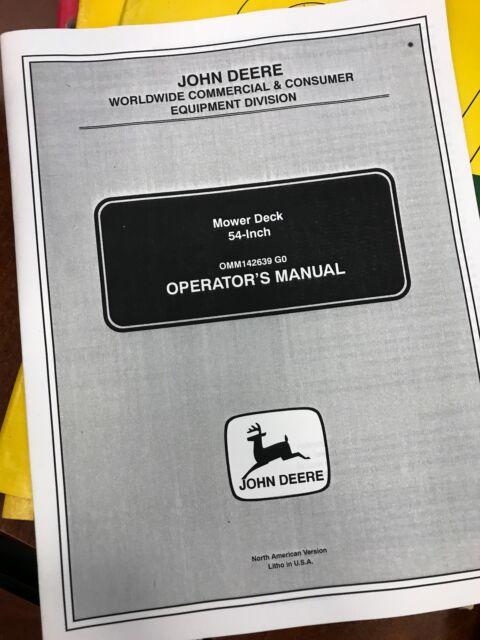 John Deere 54 Mower Deck Manual Guide