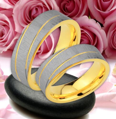 grabado gratis je54 2 alianza de amistad compromiso anillo boda oro platiert