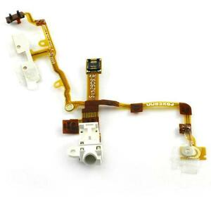 AURICOLARE-EARPHONE-JACK-POWER-VOLUME-SWITCH-FLEX-CABLE-BIANCO-WHITE-IPHONE-3-3G