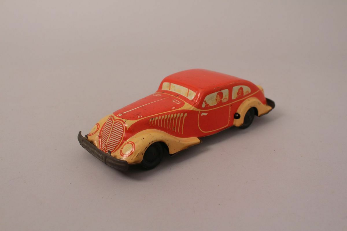 Mz Hammerer Kühlwein Tin Car Clockwork Drive Mz 550 Us Zone Germany Tin