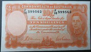 AUSTRALIA 10 shillings 1939 VF/XF Sheehan & McFarlane #P25a