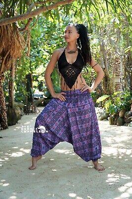 Harem Hippie Pants Tie Dye Purple Yoga Festival Boho Festival Gypsy Aladdin